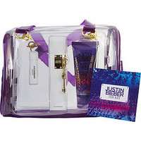 Justin Bieber JUSTIN BIEBER THE KEY EAU DE PARFUM SPRAY 3.4 OZ & BODY LOTION 3.4 OZ & EAU DE PARFUM .25 OZ MINI & BAG WOMEN