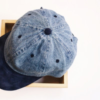 Denim Patchwork Ball Cap