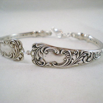 MONARCH 1889 Spoon Bracelet, Antique Jewelry, Silverware Jewelry, Bridesmaid Bracelet, Wedding