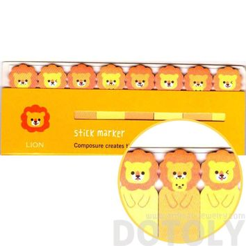 Adorable Lion Shaped Memo Pad Post-it Index Tabs | Animal Themed Stationery