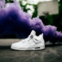 Beauty Ticks Air Jordan 4 Retro Pure Money Basketball Shoes