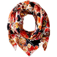 Givenchy Flower & Butterfly Cotton Silk Scarf