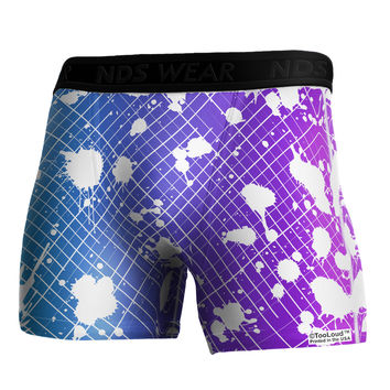TooLoud Splatter AOP - Blue Purple Boxer Brief Dual Sided All Over Print