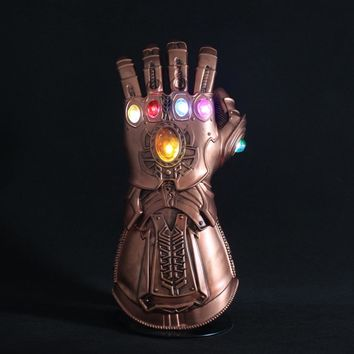 Thanos Gauntlet with Led Light Movie Avengers Infinity War PVC Glove Cosplay Prop Costume Halloween Accessory