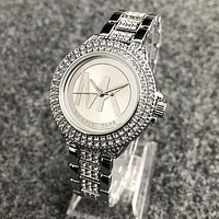 MK Michael Kors fashion more diamond brand men and women fashion watch Silver