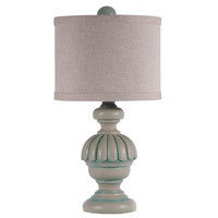 Small Capri Teal Lamp
