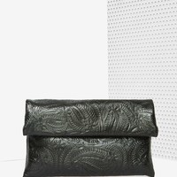 Under Wraps Embossed Clutch