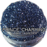 Prince Charming GLITTER 5 Gram Full Size Jar Medium Sky Blue Cobalt Royal Regal Glittering Magical Glitter Collection Lumikki Cosmetics