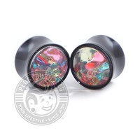 Crystal Filled Acrylic Plugs