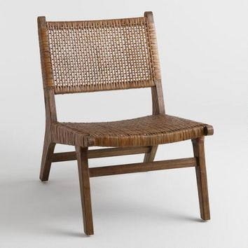 Dark Brown Cane Gunnar Chair