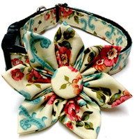 Victorian Floral Dog Collar Set