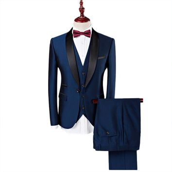 Royal Blue Three Piece Tuxedo - FREE SHIPPING!