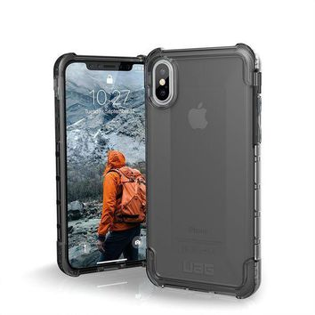 CREYRQ5 UAG iPhone X Plyo Feather-Light Rugged [ASH] Military Drop Tested iPhone Case