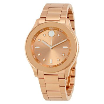 Movado Bold Rose Gold IP Stainless Steel Ladies Watch 3600417