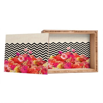 Bianca Green Chevron Flora 2 Jewelry Box
