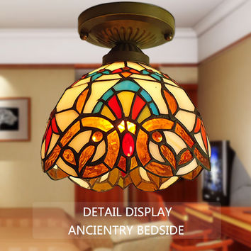 Style Of The Ancient Mediterranean Small Ceiling Lamps Aisle Lights Lamp Lamp Tiffany Lamp Inside The American Village