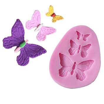 Butterfly Silicone Mold Shaped Fondant Cake Mold Soap Mould Backware Baking Cooking Tools Sugar Cookie Jelly Pudding Decor