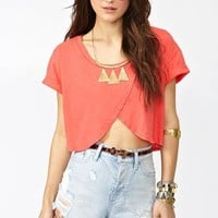 Wrapped Crop Tee - Coral in What's New at Nasty Gal