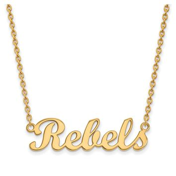 NCAA 14k Yellow Gold U. of Mississippi Small Necklace