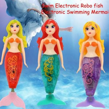 Robo Fish Funny Swim Electronic Robo Mermaid  Activated Battery Powered Toys for Kids Children Fishing Tank Decorating Fish
