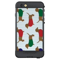 Weiner Dogs Wearing Shirts LifeProof NÜÜD iPhone 6s Plus Case