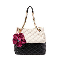BE MY BETTER HALF NORTH SOUTH TOTE: Betsey Johnson