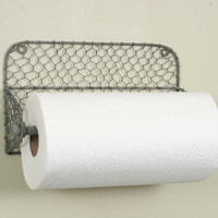 Wall Paper Towel Holder with Chicken Wire