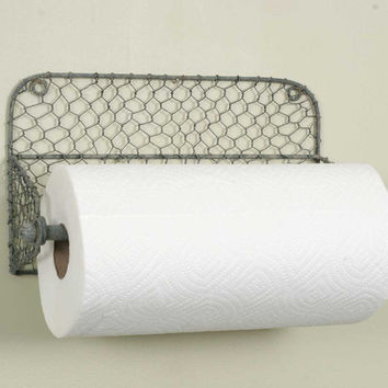 CTW Home Collection - Wall Paper Towel Holder with Chicken Wire