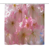 Japanese Cherry Blossom Tree Shower Curtain