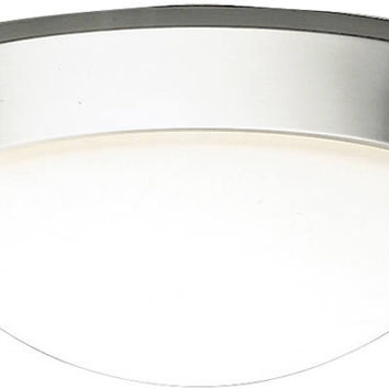 "0-021891>17""w Ceiling Space 2-Light Flush Mount Brushed Nickel"