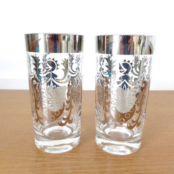 Two replacement Kimiko silver highball glasses in excellent condition