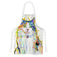 "Rebecca Fischer ""Royal"" Rainbow Cat Artistic Apron"
