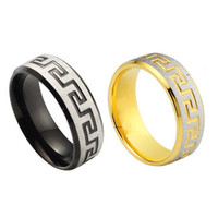 Fashion Men Stainless Steel Jewelry Ring Band