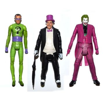 "Batman Dark Knight gift Christmas DC Universe Batman 1966 Tv Series Riddler Joker Penguin 6"" Loose Action Figure B AT_71_6"