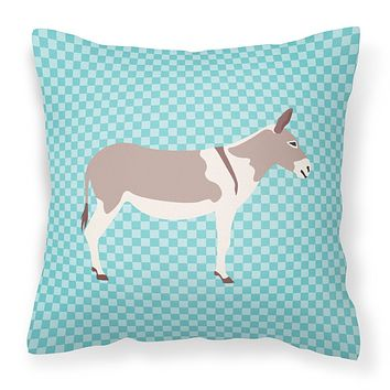 Australian Teamster Donkey Blue Check Fabric Decorative Pillow BB8020PW1818