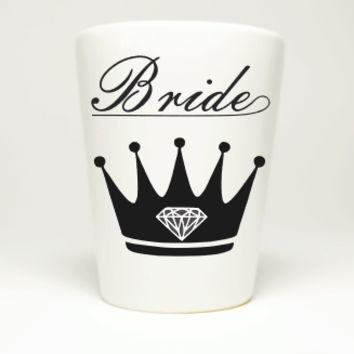Bachelorette Party Queen Bride Shot Glass