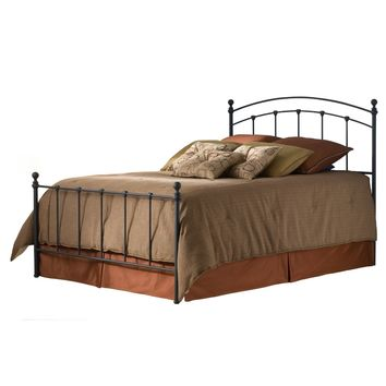 Twin Size Metal Bed Frame With Headboard & Footboard In Matte Black