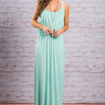 Genial Greetings Maxi Dress, Mint