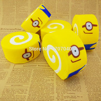 Jumbo 10CM Squishy Despicable Me Minions Cake Roll Soft Key Chains Bread Scented Cellphone Charm Strap  1PCS
