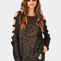 Carla Cut Out Sweater - Black at Necessary Clothing