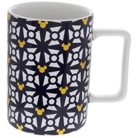 Disney Parks Mickey Icon Black Geometric Coffee Mug New
