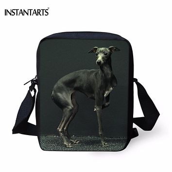INSTANTARTS Kawaii Animal Dog Greyhound Print Boys School Bags Casual Book Shoulder Bags for Kindergarten Students Kids Backpack
