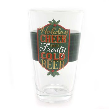 Tabletop HOLIDAY CHEER PINT GLASSES Beer Christmas Frosty Cold 2020160683 Frosty