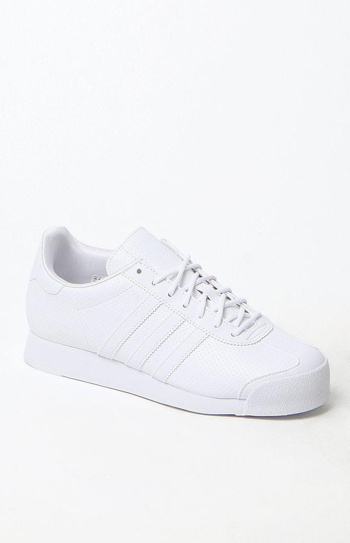 sports shoes 720e5 e9134 Adidas White Samoa Sneakers - Womens Shoes - White