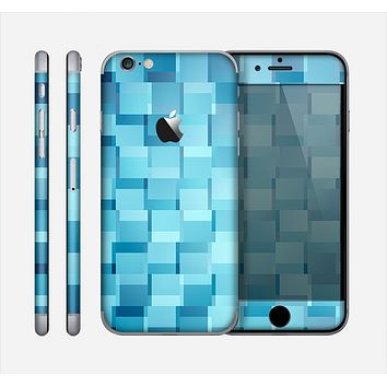 The Abstract Blue Cubed Skin for the Apple iPhone 6
