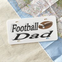 Football Dad 3D License Plate