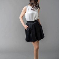 Flow - satin skirt / black skirt / mini skirt / pleated skirt / satin mini skirt / mini black skirt / custom color skirt / fancy skirt