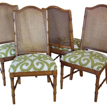 Faux-Bamboo  Side Chairs, S/4