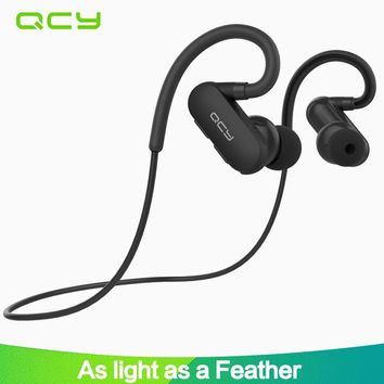 2017 QCY QY31 ear hook sports earbuds running wireless headphones bluetooth stereo earphone IP4X waterproof headset with mic