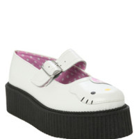 Hello Kitty T.U.K. White Mary Jane Mondo Creepers